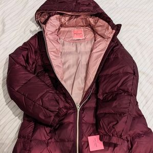 NWT Kate Spade Hooded Down Puffer Jacket Coat L
